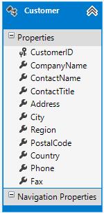 Customer data model class