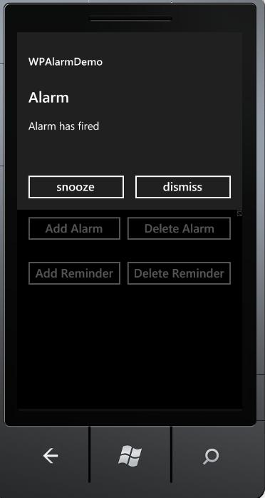 Alarm notification