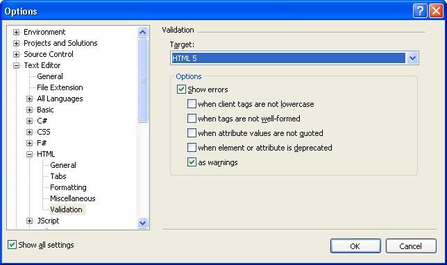 Visual Studio SP1 HTML5 support