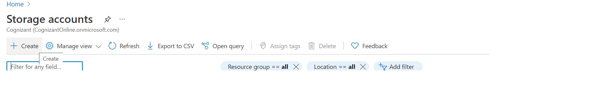 Azure Creating New Storage Accounts