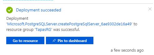 PostgreSQL DB Deployed Successfully
