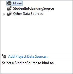 Add Project Data Source