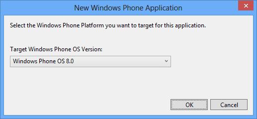 Select the Windows Phone Platform