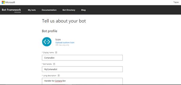 Bot Profile Page
