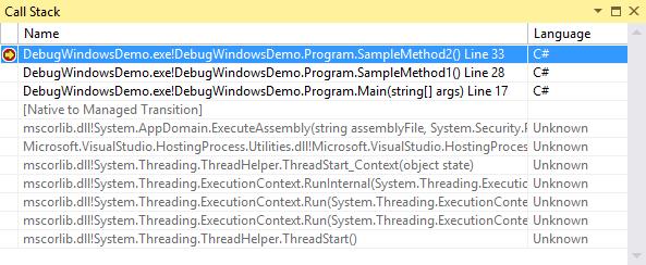 External Code Stack