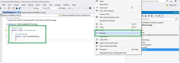Visual Studio Solution Rename File