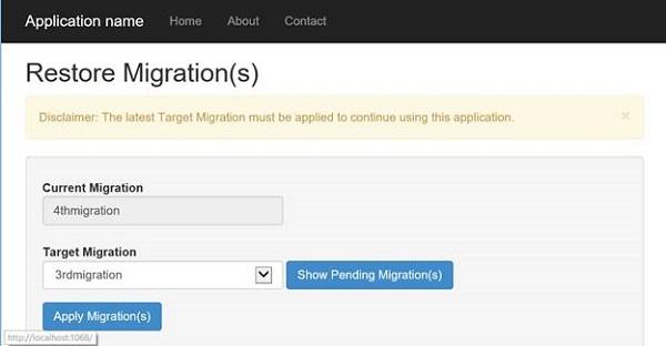 Restoring the migration