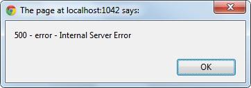 500 Error - Internal Server Error