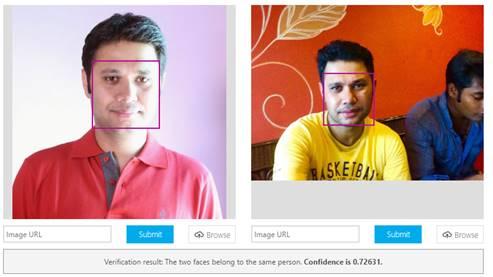 Verifying a face