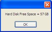 Hard Disk Free Space