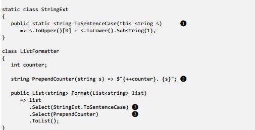 Code listing