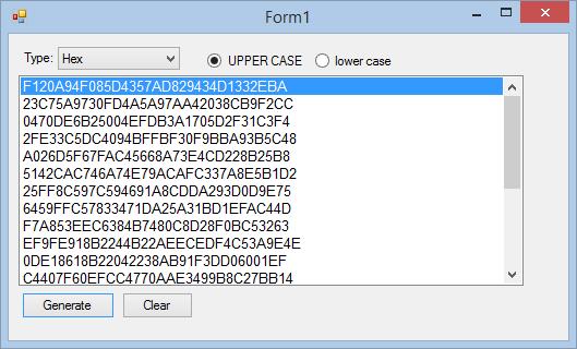 Upper case Hexadecimal Conclusion