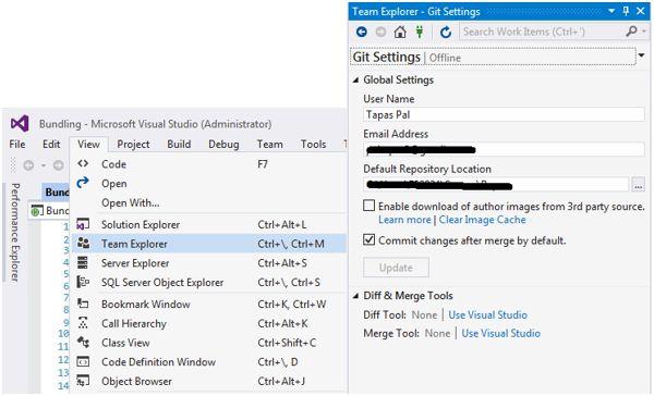 Local Repository in Visual Studio