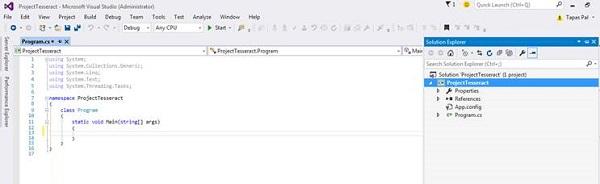 Visual Studio Sample Project Code