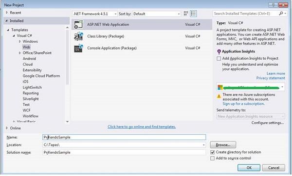 New ASP.NET MVC Application