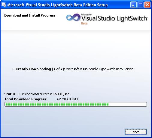 Installing Microsoft LightSwitch