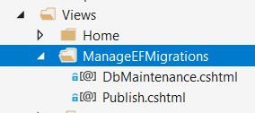 The EFMigrationsManager folder