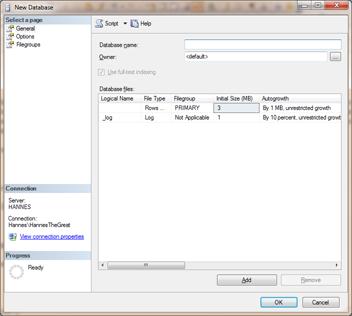 New SQL Database