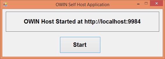 OWIN Self Host Application