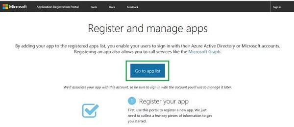 Register your app