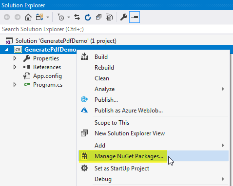 Selecting NuGet Packages