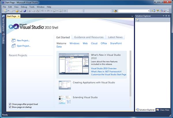Visual Studio 2010 Shell - Get Started