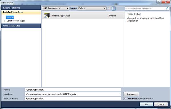 Visual Studio 2010 Shell - New Project