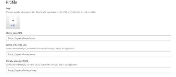 Graph API Profile page URL setup
