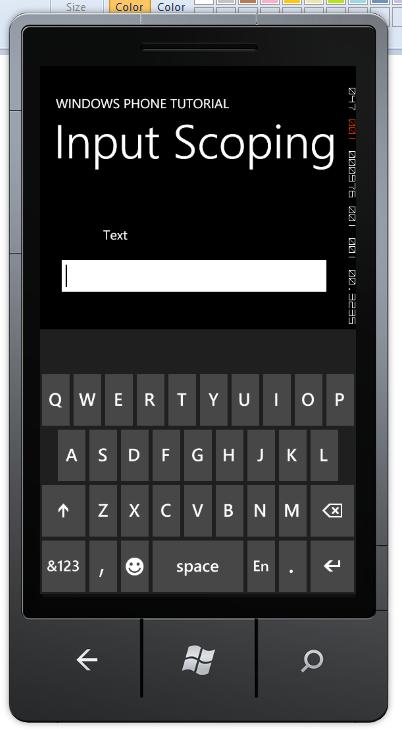 Windows Phone Input Scoping