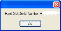 Hard Disk Serial Number