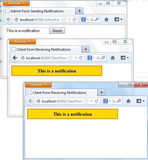 Develop a web form application