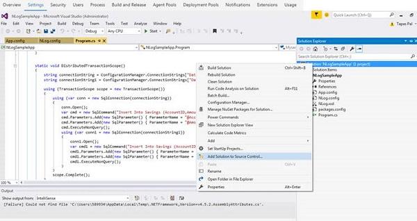 Visual Studio 2017 Source Code