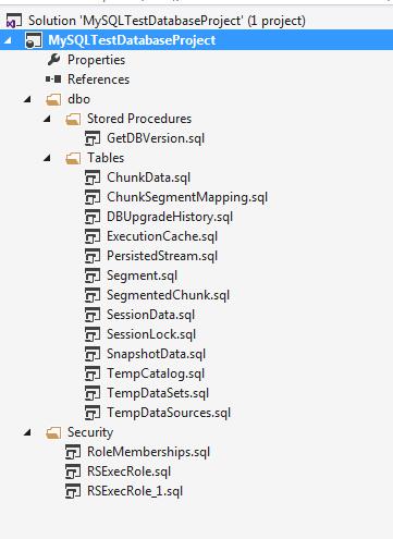 Imported database inside Visual Studio