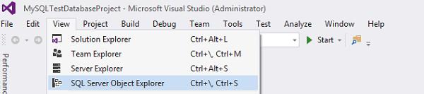 SQL server object explorer