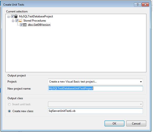 Create New Visual Studio Test Project