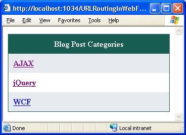 Displaying blog post categories