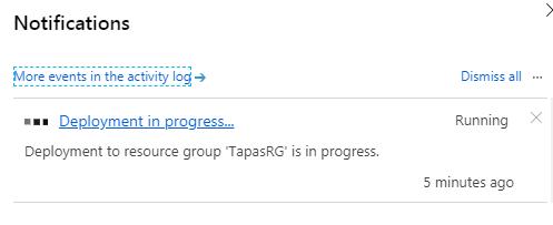Notification Azure WordPress Service