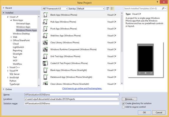 New Windows Phone 8 Project