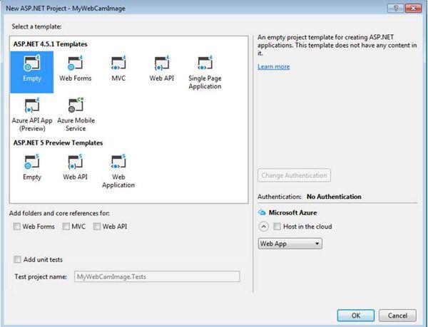 New .NET Web Application Empty Template