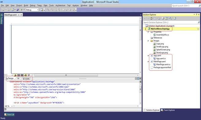 Visual Studio 2011: Application 1