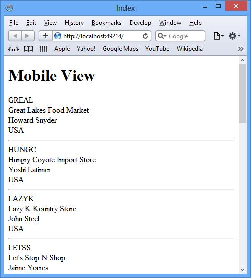 Rendered Index.mobile.aspx