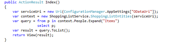 Your HomeController.cs should now have an Index() method
