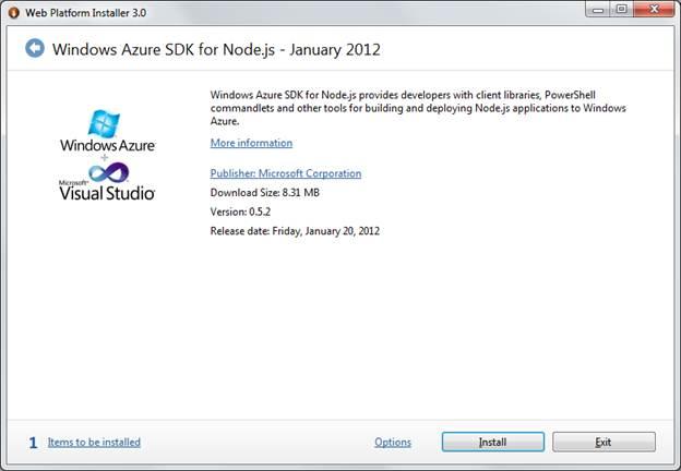 Windows Azure SDK for Node.js