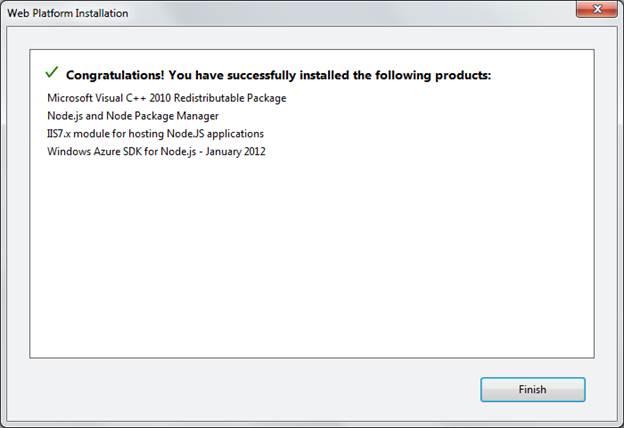 Successful Install