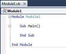 The default hierarchy of subroutines contained within modules
